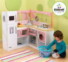 Kidkraft Grand Gourmet Corner Kitchen, Kids Wooden Play Kitchen