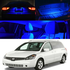 For 04-09 Nissan Quest V6 Family Van BLUE Xenon Interior Light LED Bulb Kit