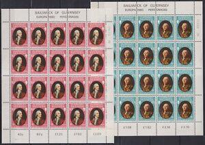 E838. Guernsey - MNH - Famous People - Full Sheet