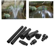 8pcs Set Nero Multi-Funzionale Giardino Esterno Fontana Ugelli Testa Accessori