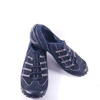 Privo by Clarks Shoe Black & Gray Slip On Suede Rubber Sole Walking 75330 Sz 8M