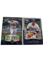 2008 Upper Deck Tampa Bay Rays Baseball Card Loy Of 2 Evan Longoria Rookie RC
