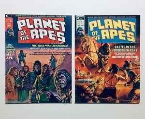 PLANET OF THE APES #1 & 2 Magazine '74 Original Movie Adaptation Begins, NM, 9.8