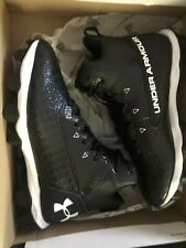 Under Armour Youth Hammer Cleats Mid Rim Jr. Wide Size 4.5 Black New In Box