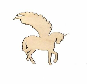 Pegasus Unicorn Unfinished Wood Shape Cut Out PH435 Crafts Lindahl Woodcrafts