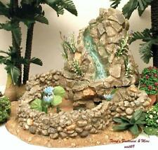 "FONTANINI ITALY 5"" RETIRED FLOWING WATER LILY POND VILLAGE NATIVITY 94820 GCIB"