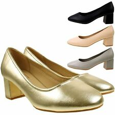 Mid Heel (1.5-3 in.) Party Synthetic Leather Shoes for Women