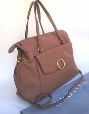 RRP$595 New OROTON Endeavour Tote Handbag Shoulder Bag Leather Tan Zip Top