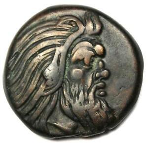 Greece Bosporus AE20 Copper Coin (Pan, Griffen) 300 BC - Choice VF Condition