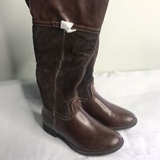 Women's 7 Maurices 'Samantha' Brown Suede Wide-Calf Riding Boots NIB
