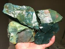 5 Lb Lot Of Mixed Green Agate Rough - India - Excellent Quality