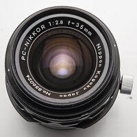 Nippon Kogaku PC-Nikkor Nikkor 35mm 35 mm 2.8 1:2.8 Tilt Shift analog