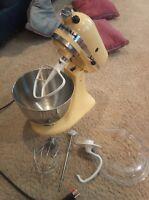 KitchenAid Stand Mixer & Accessories yellow
