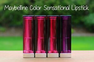 MAYBELLINE NEW YORK COLOR SENSATIONAL LIPSTICK You Chose Shade. Lots of Colors