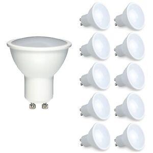 10x Dimmable GU10 6W LED Light Bulb Spotlight Lamp Cool/Warm Equals 50W Halogen