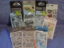 Clear Stamp Lot of 11-Hero Arts-Inkadinkado-Jillibean Soup-Stampendous-LOL-AI
