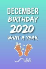 DECEMBER BIRTHDAY 2020 GREETING CARD + FREE KEYRING