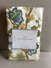 Pottery Barn Westwood Bolster Bed Pillow Cover Sham Palm Trees Vintage Tropical