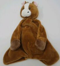 Baby Ganz Brown Pony Horse Pacifier Cozy & Security Blanket Brown NWT