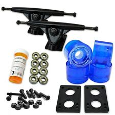 HD7 Longboard Combo set - Black trucks (Gel Blue)