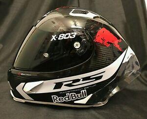 2021 X-lite X803RS Carbon Gratis Red Bull Sticker & Dunkles Visier Motorrad Helm