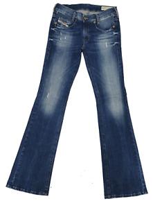 Diesel Damen Jeans Louvboot 00CUM0 0669B Slim-Bootcut Low Waist Women Pants