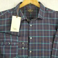 New RODD & GUNN Size 2XL Mens Long Sleeve Button Front Sport Fit Plaid Shirt NWT
