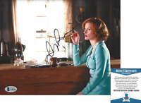 JESSICA CHASTAIN SIGNED 'LAWLESS' 8x10 MOVIE PHOTO C ACTRESS BECKETT COA BAS