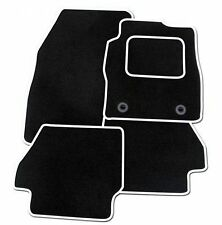VAUXHALL CORSA (D) 2007-2014 TAILORED CAR MATS CARPET BLACK MAT + WHITE TRIM