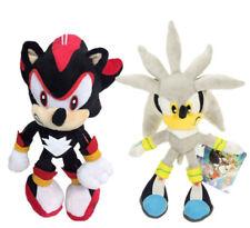 2pcs Sonic the Hedgehog Silver & Shadow Sonic Plush Doll Stuffed Animal Toy Gift
