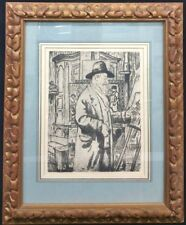Original Joseph Victor Roux-Champion Etching Framed Special Glass