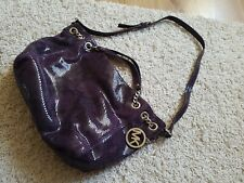Michael Kors Large  purple Leather snake Handbag Chain /Handles /Strap-  Mint