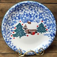 "Cabin in the Snow 10.5"" Dinner Platter Plate Folk Craft by Tienshan"