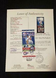 YU DARVISH SIGNED MLB DEBUT FULL UNUSED SEASON TICKET 4/9/12 JSA LOA-PADRES