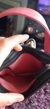 genuine black Radley bag,  small with pink handles