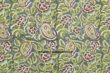 By 1 Metre Indian Supplies Paisley Fabric Block Print Material Sewing Apparel