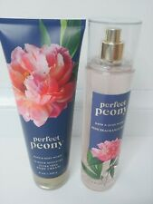 Bath & Body Works Perfect Peony Body Lotion And Spray Large 8 Oz New