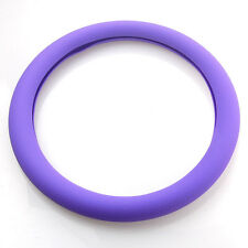 Purple Leather Texture Soft Silicone Auto Car Steering Wheel Cover Shell Decor