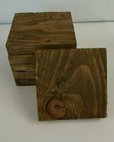 Wooden Coasters Walnut Stain Reclaimed Pallet Wood Shabby / Industrial Chic