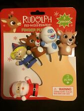 """RUDOLPH THE RED NOSED REINDEER  2"""" FINGER PUPPET SET NWT RANKIN-BASS RUDOLPH"""