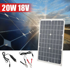 20W 18V Mono Solar Panel Module Cell System USB Battery Charger For Fan Car Kits