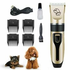 Low noise Pet Cat Dog Hair Clipper Trimmer Shaver Cordless Grooming Clipper Kit
