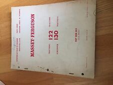 MASSEY FERGUSON TRACTOR PARTS BOOK CATALOG MANUAL MF 122 130
