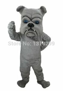 mascot Grey Bulldog fancy dress fancy cosplay carnival costume kits Party Game A