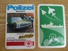 Auto cuarteto coche de policía NSU audi 100 DAF 44 VW Escarabajo Opel Caravan relámpago