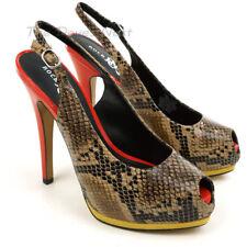 Rock & Republic RRCRUZSNAKE Womens 6.0 M Snake Skin Look Slingback Heel Shoes