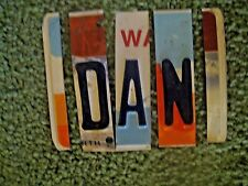 License Plate Letters Made into Names:  DAN  Email for Any 3 Letters, cf. NOTE
