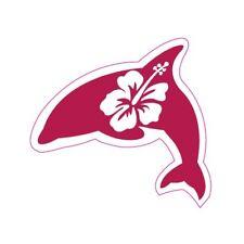 Dauphin Dolphin autocollant stickers adhésif logo 1 Taille:12 cm couleur : blanc