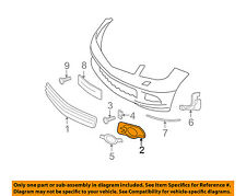 MERCEDES OEM 08-11 C300 Front Bumper-Outer Grille Right 2048850223