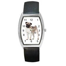 PUG DOG Puppy LADIES MENS UNISEX BARREL WATCH 90928168